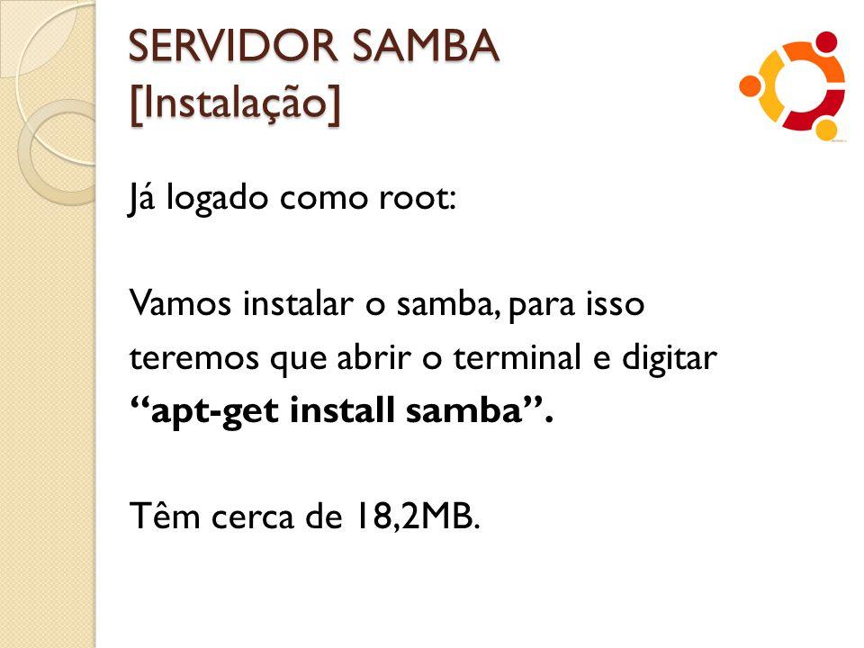 SERVIDOR SAMBA [Instalação]